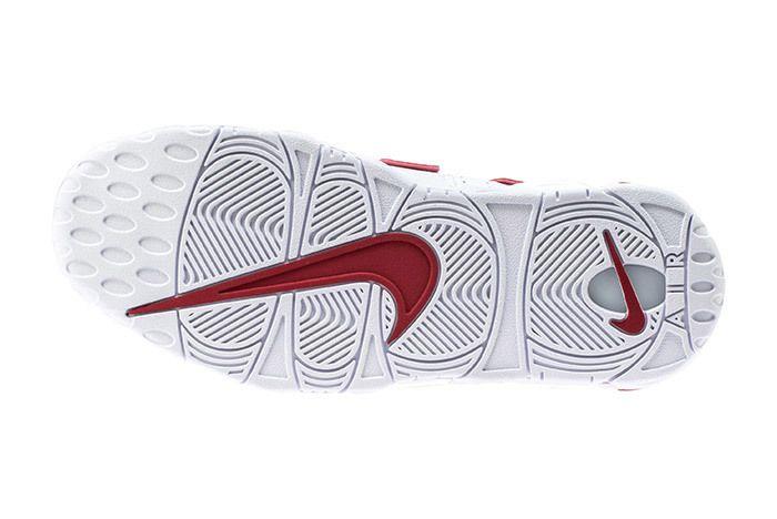 Nike Air More Uptempo 96 Whitevarsity Redwhite 5