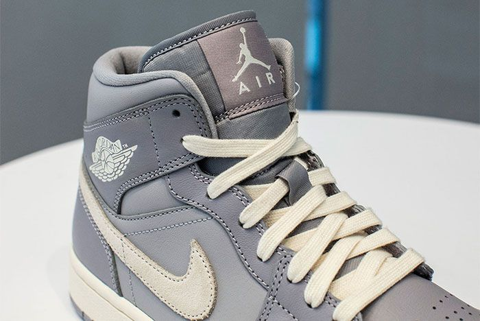 Jordan 1 Mid Full Grey 2 Up Close Side
