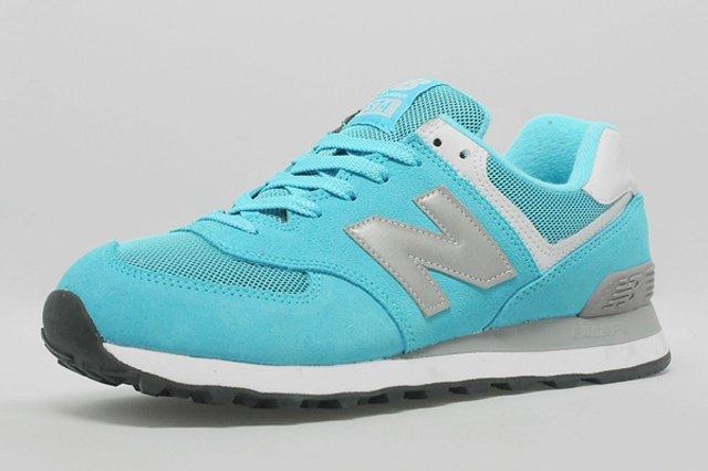 New Balance 574 Turquoise Silver White 1