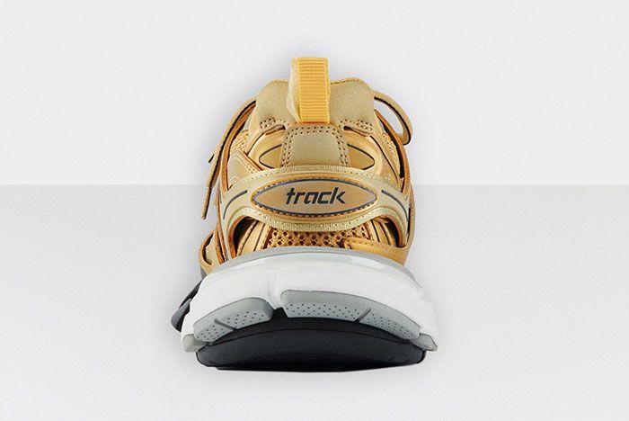 Balenciaga Track 2 Gold White Black Rear