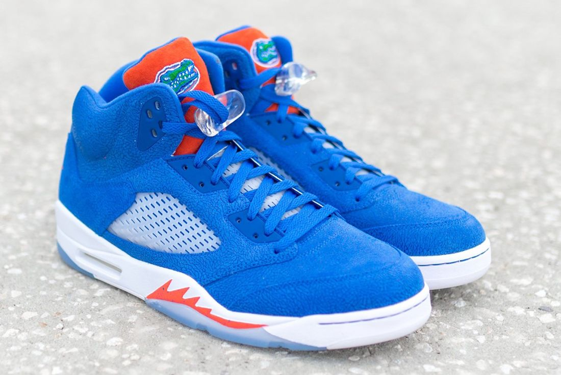 Florida Gators' Player Exclusive Air Jordan 5 up close shots