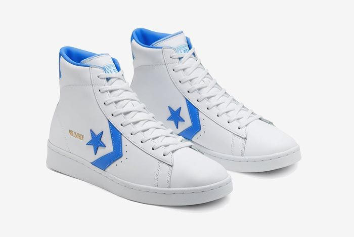 Converse Pro Leather Hi Blue Pair