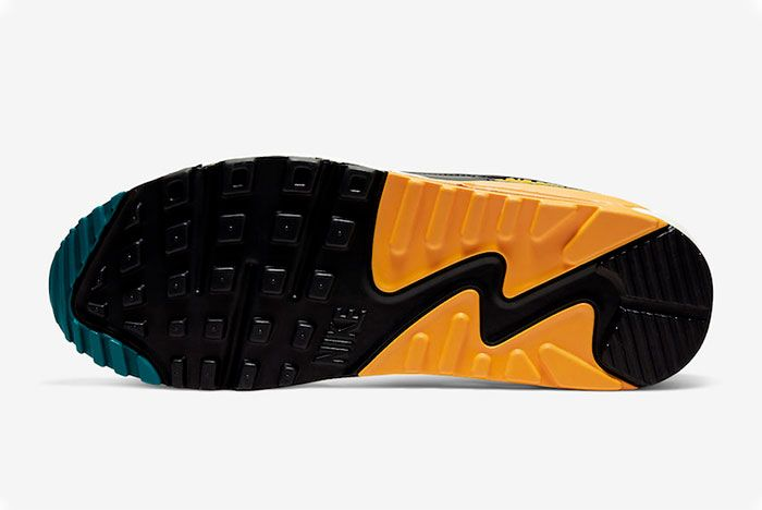 Nike Air Max 90 Teal Yellow Sole