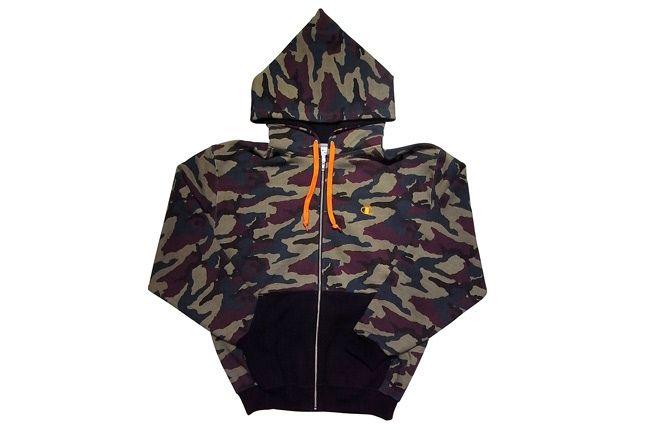 Zip Hooded Sweatshirt 799 Black 1