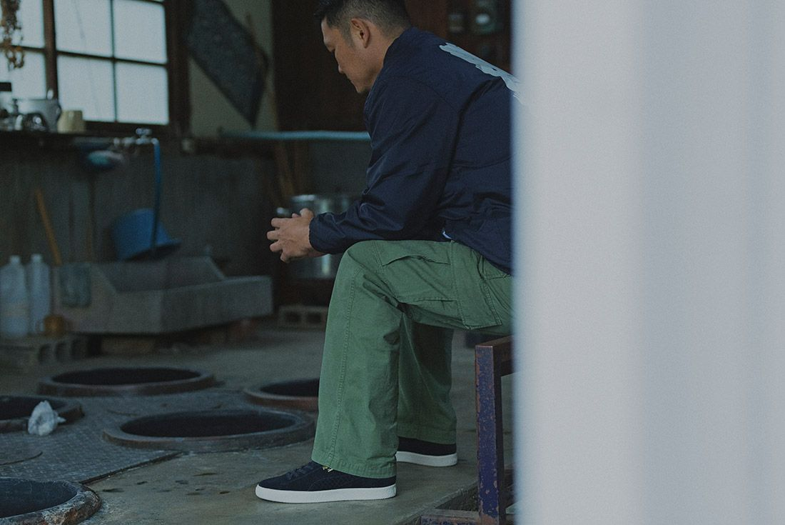 Cluct X Mita Sneakers X Puma Clyde Indigo 11