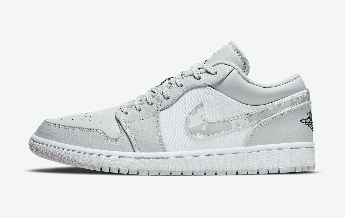 Air Jordan 1 Low White Camo Left