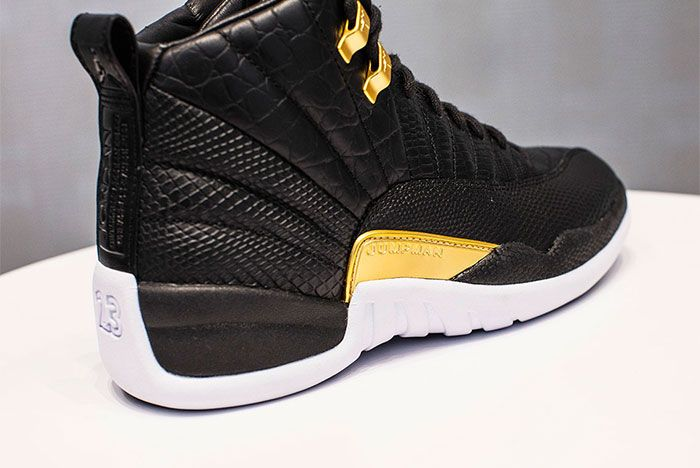 Air Jordan 12 White Black And Gold Release Date Back Angle Shot 3