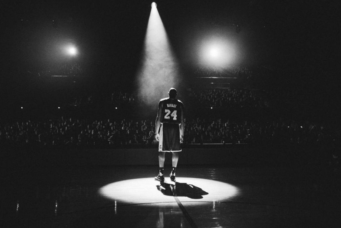 Mamba Day Kobe Bryant Black And White Spotlight