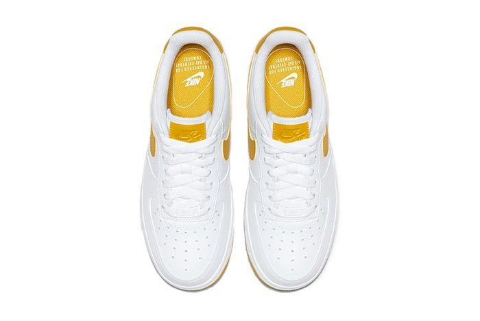 Nike Air Force 1 Yellow White Top