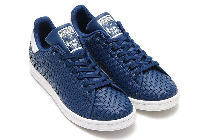 Adidas Stan Smith Woven Blue White 1