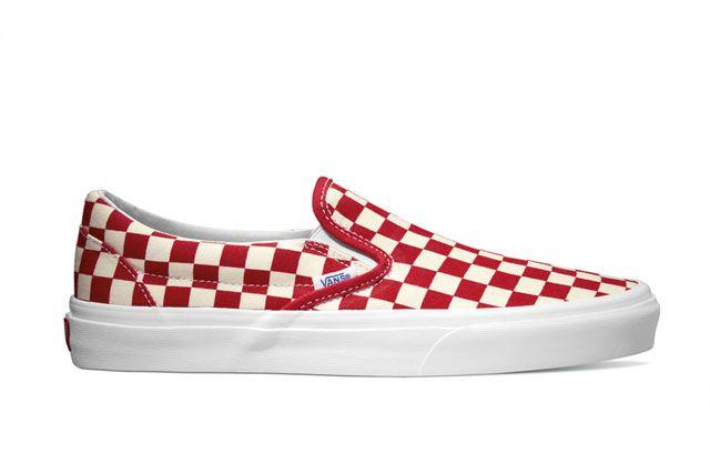 Vans Classics Classic Slip On Golden Coast Red White Checker 2014