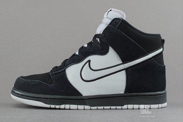 Nike Dunk High Black Reflective Silver Profile