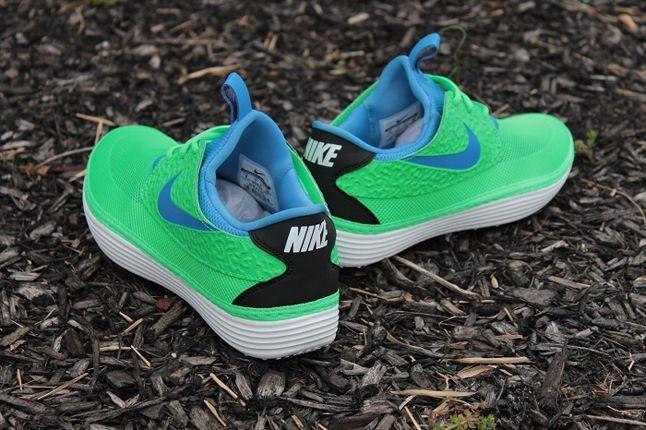Nike Solarsoft Mocassin Lime Blue Heel Profile 1