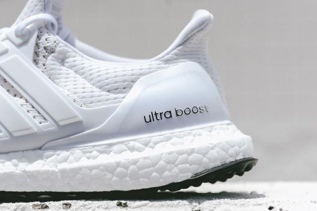 Adidas Ultra Boost White Black Bottom 6