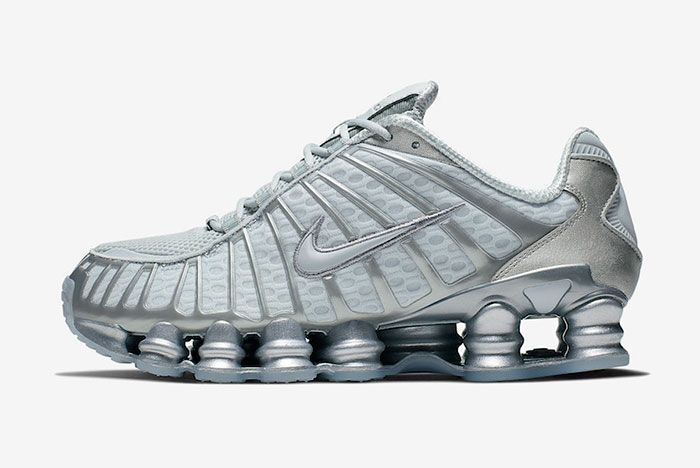 Nike Shox Tl Pure Platinum Chrome Av3595 003 Left Lateral