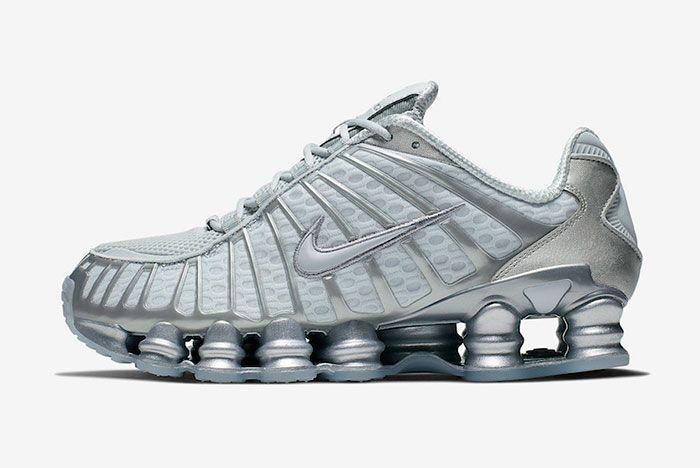 Nike Shox Tl Pure Platinum Chrome Av3595 003 Left Lateral