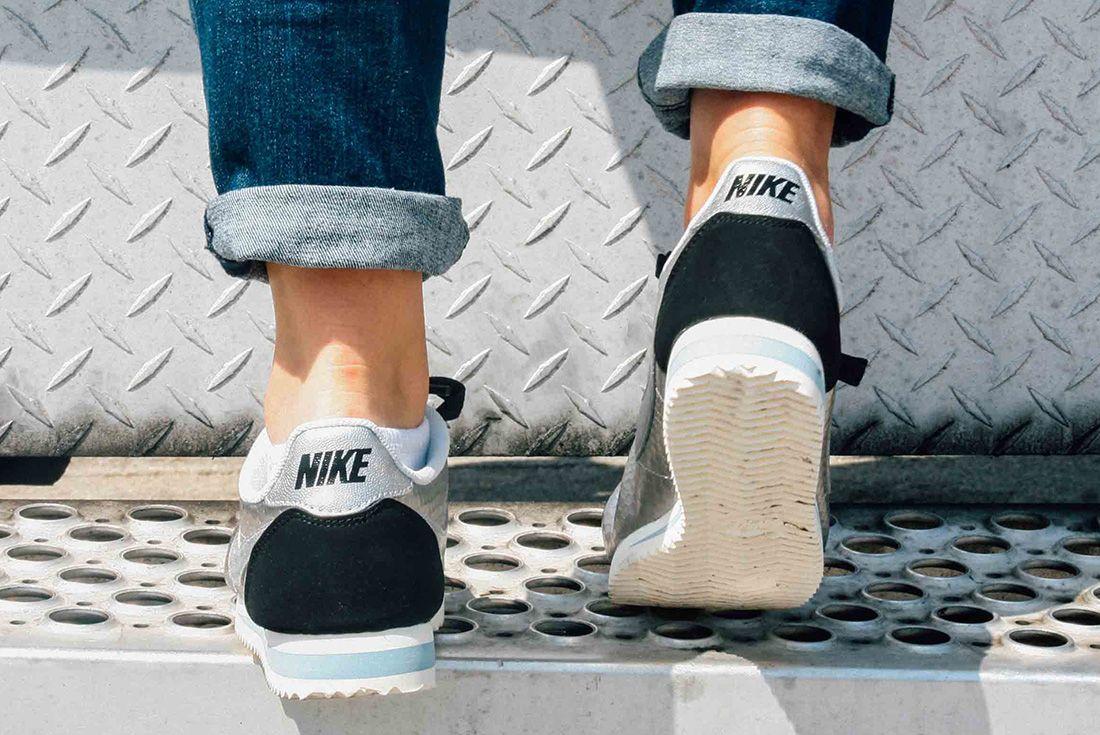 Nike Cortez Womens Metallic Silver 5