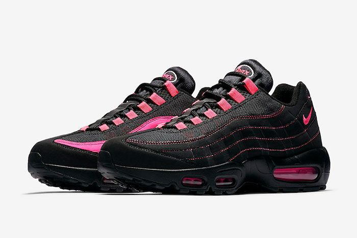 Nike Air Max 95 Black Pink Cu1930 066 Front Angle