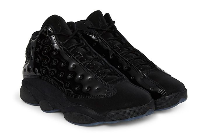Air Jordan 13 Cap And Gown Triple Black