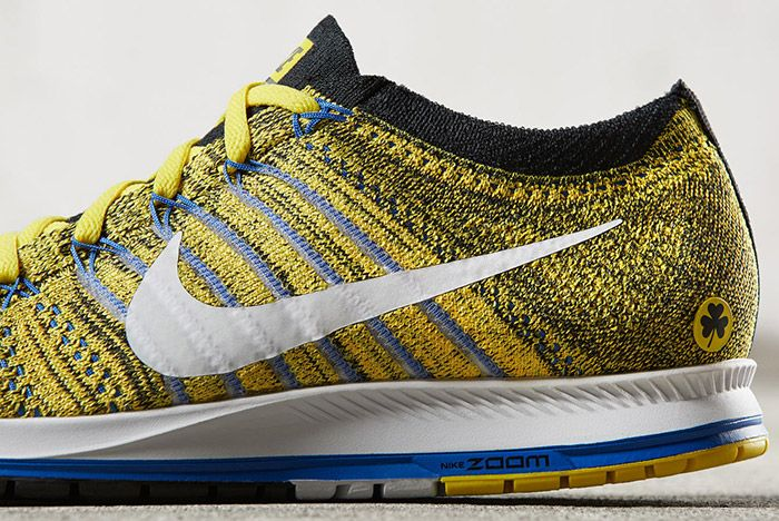 Nike Zoom Flyknit Streak Boston Yellow Blue 3