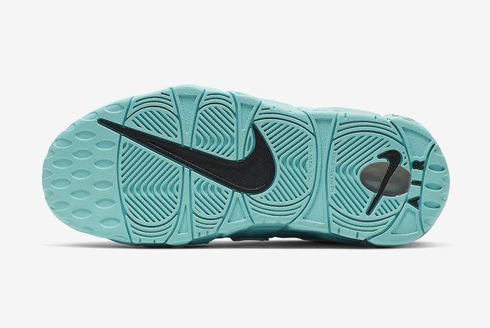 Nike Air More Uptempo Gs Light Aqua Outsole