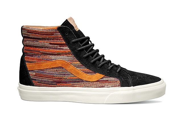 Vans California Collection Sk8 Hi Reissue Ca Italian Weave Black Burnt Orange 2014