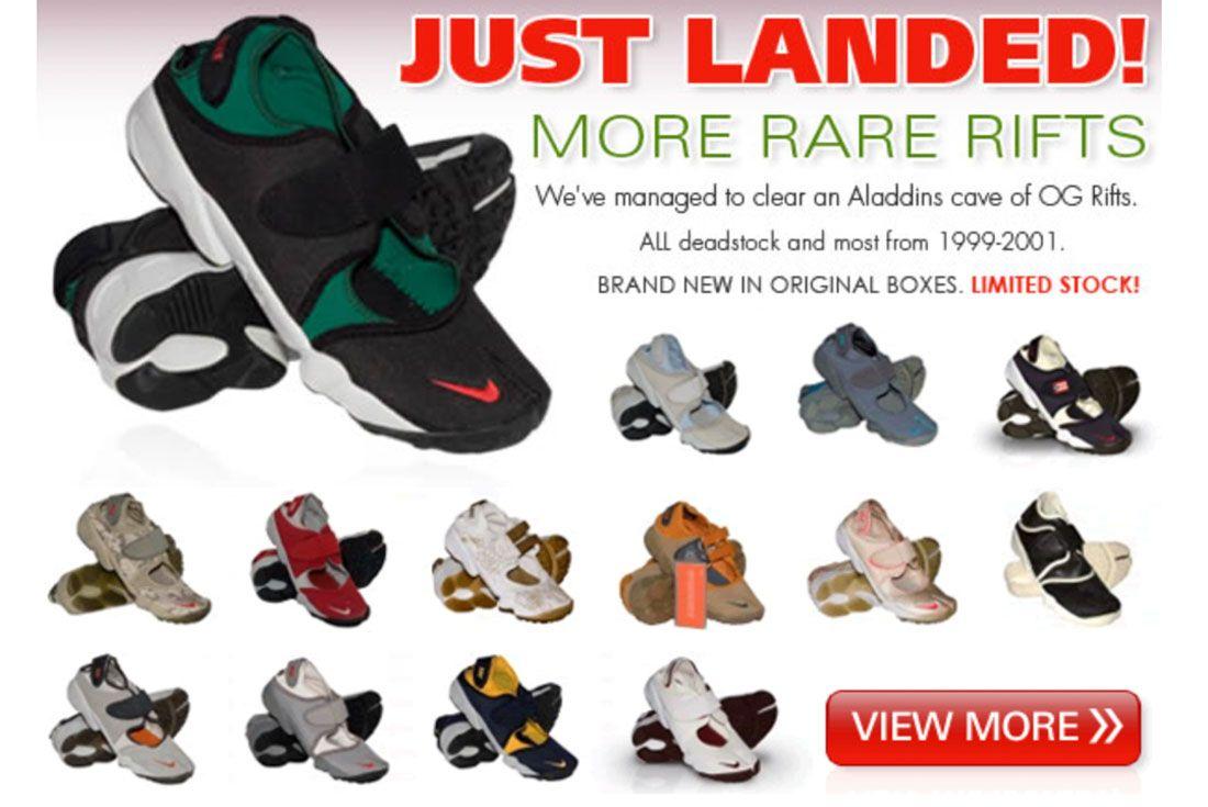 J600 Nike Air Rift Website