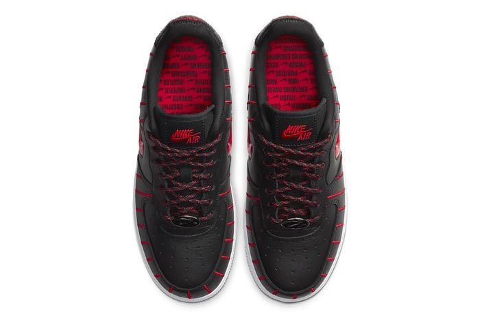 Nike Air Force 1 Jewel Black University Red Top
