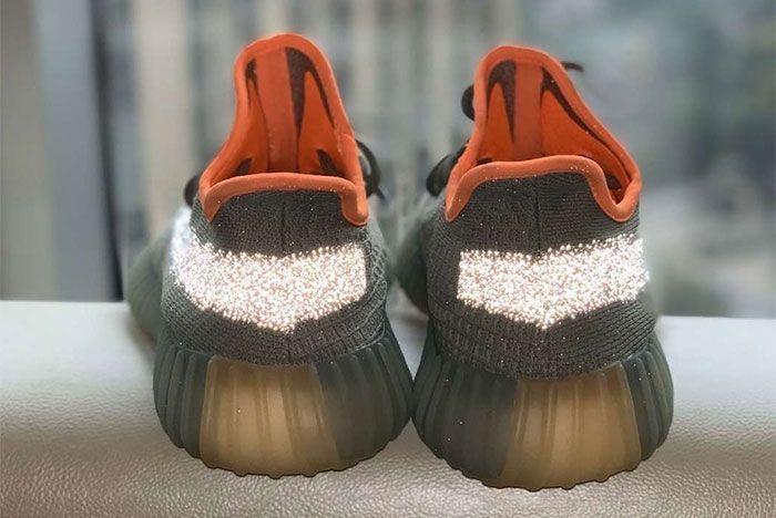 Adidas Yeezy Boost 350 V2 Desert Sage Reflective Heel