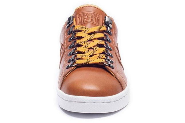 Undefeated Converse Leather Brown Lo Front 1