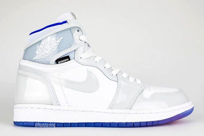 Air Jordan 1 High Zoom R2 T White Racer Blue Ck6637 104 Right Lateral