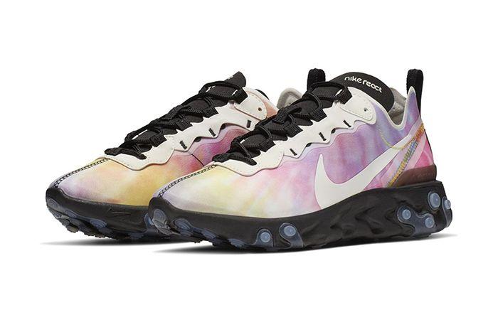 Nike React Element 55 Tie Dye Release Date Pair