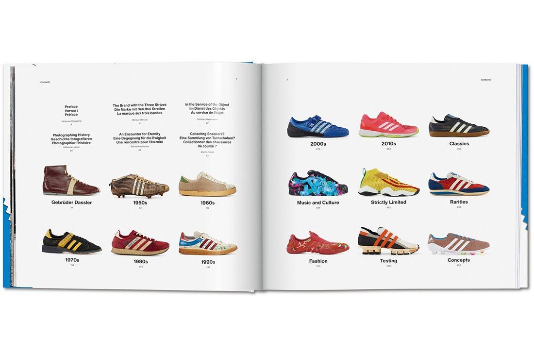Adidas Taschen Book Contents