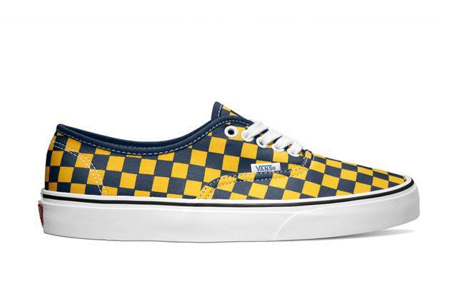 Vans Classics Authentic Golden Coast Dress Blues Yellow Checker 2014