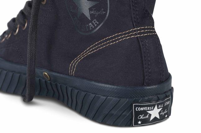 Nigel Cabourn Converse Bosey Boot Navy Heel Detail 1