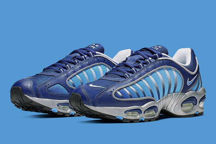 Nike Air Max Tailwind 4 Blue Silver Aq2567 401 Front Angle