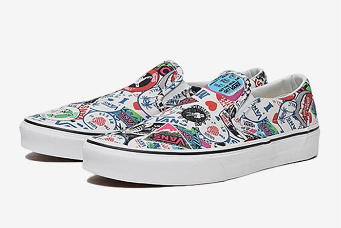 Vans Slip On All Over History Logos 1