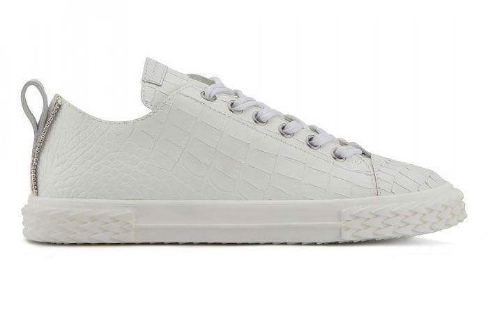 Giuseppe Zanotti Blabber White Leather Ru90028001 Right Side View