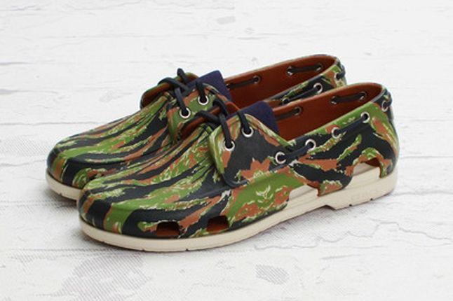 Crocs Elite Camo Boat Shoe Angle 1