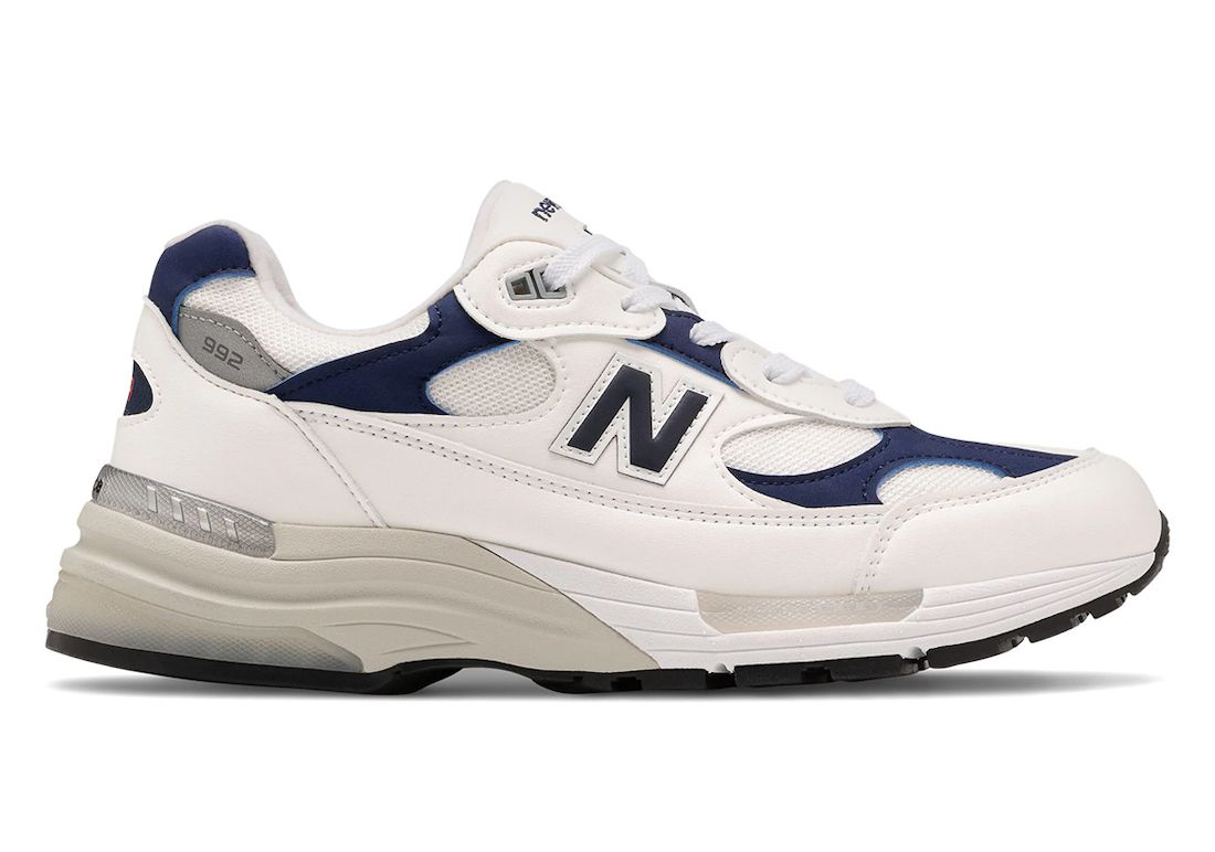 New Balance 992 Navy White Right