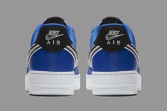 Nike Air Force 1 Low 3D Chenille Swoosh Blue 5