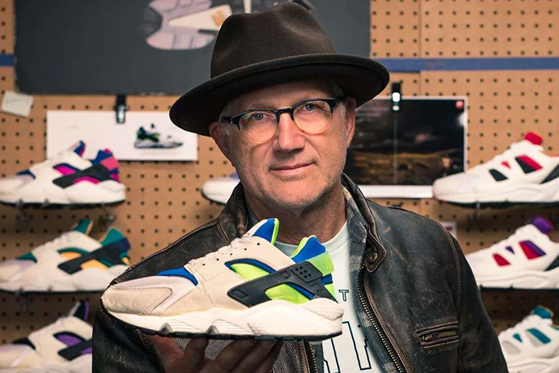 Tinker Hatfield Holding Nike Air Huarache
