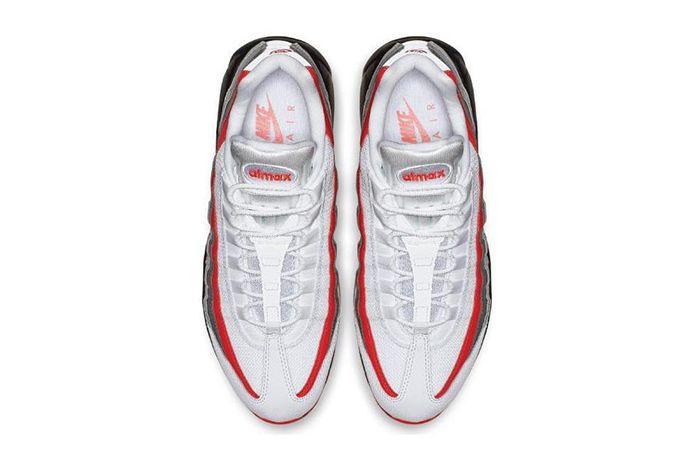Nike Air Max 95 White Grey Black Bright Crimson 2