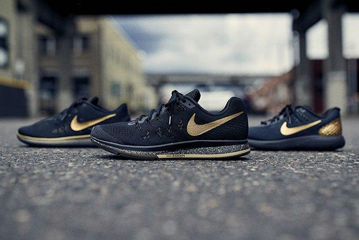 Nike Running Black Gold Pack3