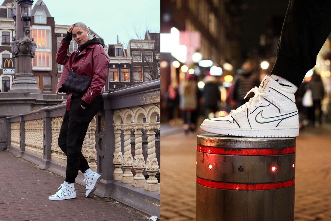 Snipes Air Jordan 1 Mid Womens Reflect On Foot Night