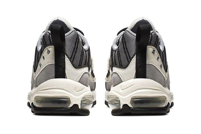 Nike Air Max 98 Se Inside Out Wolf Grey Gunsmoke Black Phantom Release Heel