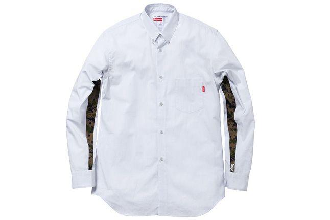 Supreme Vans Comme Des Garcons Spring Capsule White Shirt 1