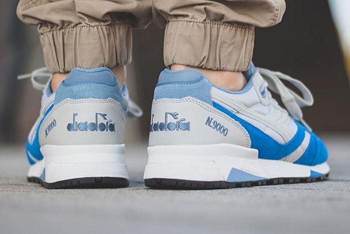 Diadora N9000 Grey Skydiver Blue