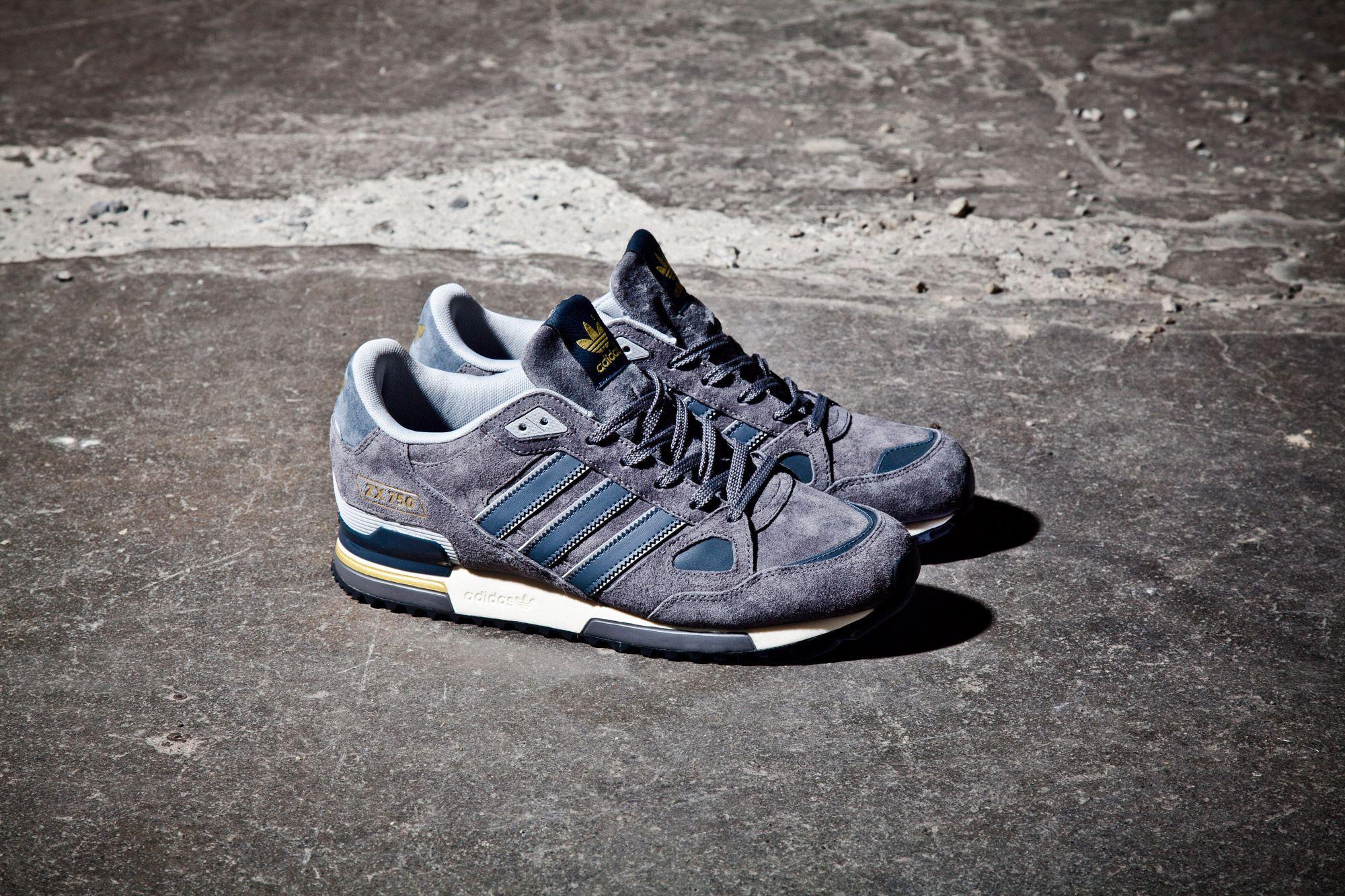 Adidas Fl Zx750 Grey Pair Flash