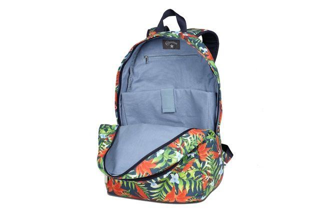 Converse Allstar Chukc Specialty Hawaiian Print Blue Backpack Open 1